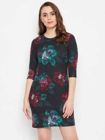 Jhankhi | Black Floral Dress