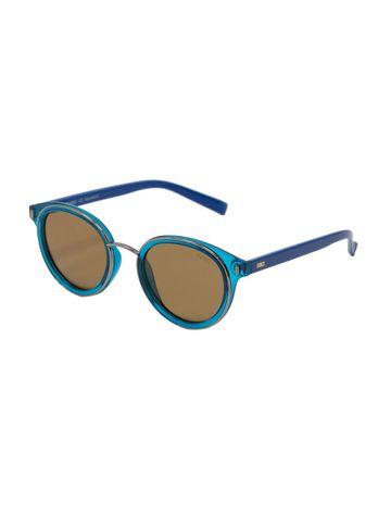 ENRICO | ENRICO Darcy UV Protected Round Unisex Sunglasses ( Lens - Yellow | Frame - Blue)