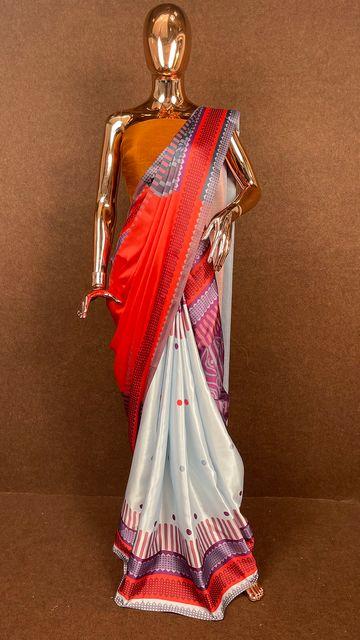 SATIMA | Satin Printed Saree