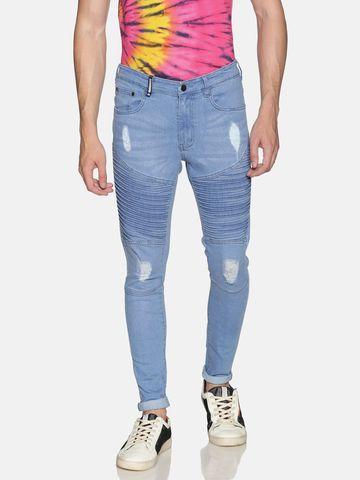 IMPACKT | Impackt Light Washed Skinny Fit Biker Jeans for Men