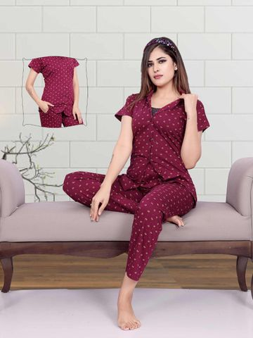 Impex   Impex Printed Night Suit For Women