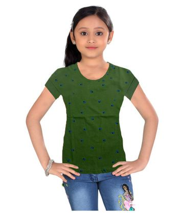 Impex | Impex Green Printed Tshirt For Girl