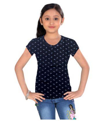 Impex | Impex Black Printed Tshirt For Girl