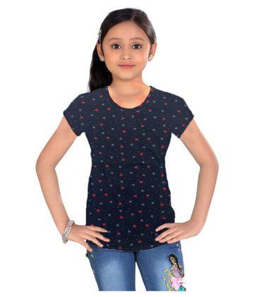 Impex | Impex Printed Black Tshirt For Girl