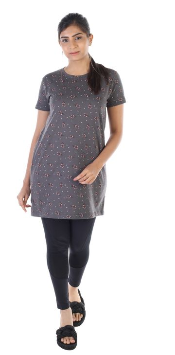 Impex   Women's All Over Printed Tshirt Dress