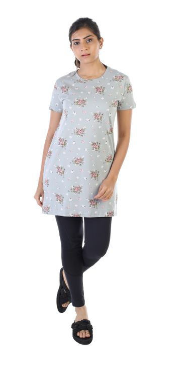 Impex | Women's All Over Printed Tshirt Dress