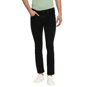 Integriti   Integriti Casual Cotton Lycra Skinny Fit Solid Jet Black Shade Color Mens Jeans