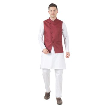 TAHVO | TAHVO mens nehru jacket with kurta payjama 3 piece set Mens kurta pyjama