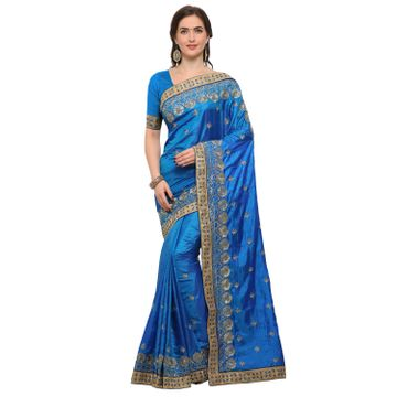 SATIMA | SatimaSilk BlendZari Embroidery Saree