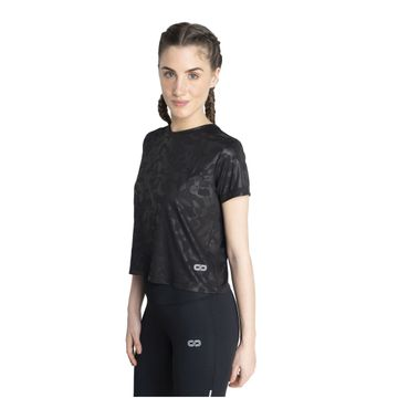 SilverTraq | Embossed Camo Short Sleeve Tee Black