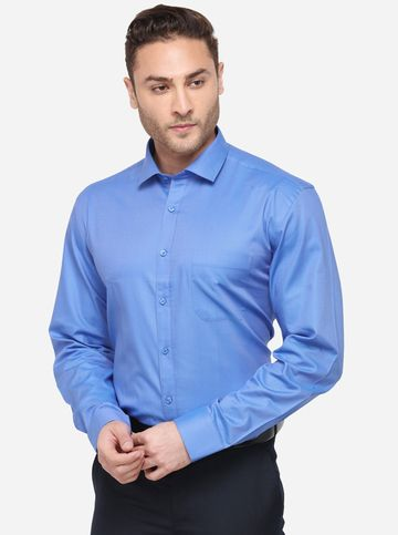 JadeBlue | JBR690/3,BLUE SELF (R) F_SHIRT JADE BLUE