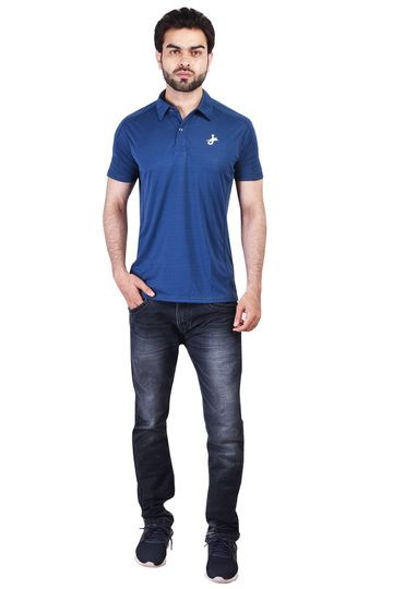 JAGURO | JAGURO Men Casaul Polyester Collar Neck T-Shirt.
