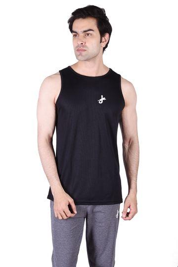 JAGURO   JAGURO  Men's Polyester Sleeveless  Tank T-Shirt.