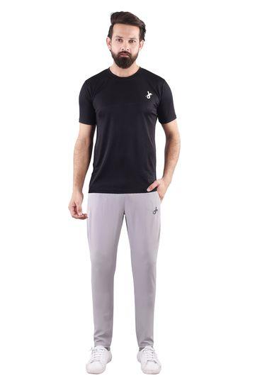 JAGURO | JAGURO  Solid Round Neck Men's Polyester  T-Shirt.