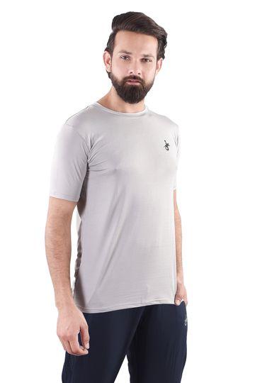 JAGURO   JAGURO  Solid Round Neck Men's Polyester  T-Shirt.