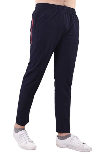 JAGURO | JAGURO Men's Polyester Solid Blue Casual Track-Pant