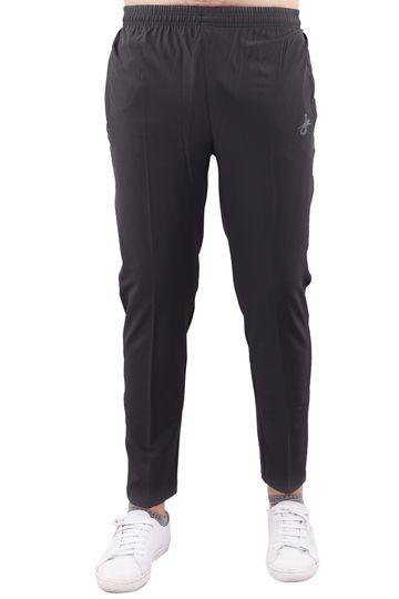 JAGURO | JAGURO Men's Polyester Solid Grey Casual Track-Pant.