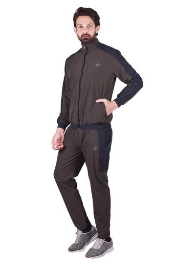 JAGURO | JAGURO Men's Casual Polyester Solid Straight Tracksuit.