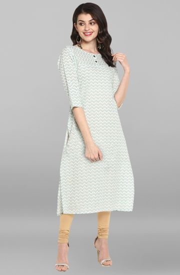 Janasya | Janasya Women's Cream Cotton Kurta