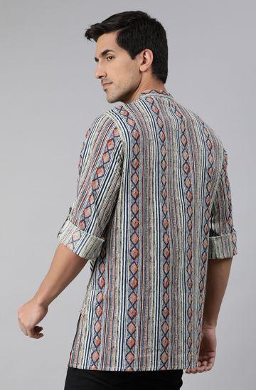 Janasya | Janasya Men's Multicolor Cotton Kurta