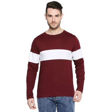Jhankhi |  Jhankhi Men Cotton Maroon T shirt