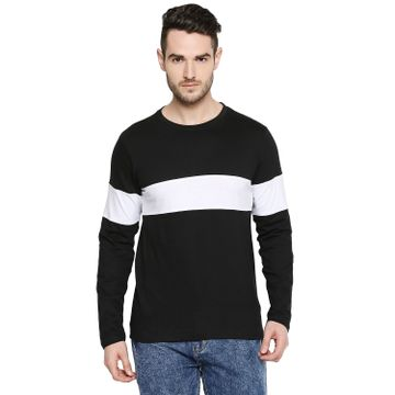 Jhankhi | Jhankhi Men Cotton Black and White T Shirt