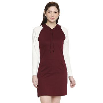 Jhankhi | Jhankhi Women Knee length hodded T-shirt dress
