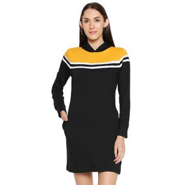 Jhankhi | Jhankhi Cotton Black Hodded Dress