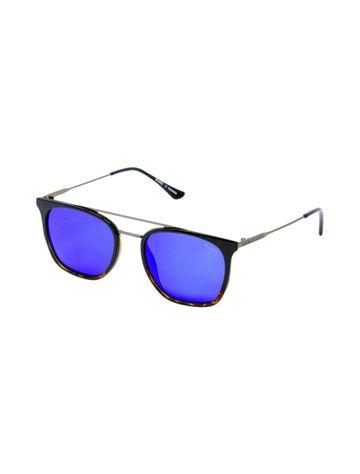ENRICO | ENRICO Suneo UV Protected & Polarized Unisex Wayfarer Sunglasses ( Lens - Blue | Frame - Black)