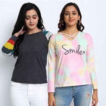 Juneberry | Juneberry Combo T-shirt for women- Set of 2