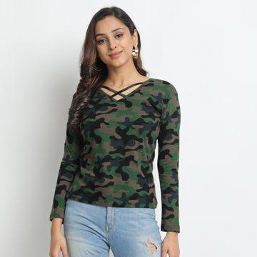 Juneberry | Juneberry Camouflage T-shirt For Women
