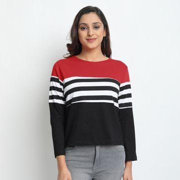 Juneberry | Juneberry Striped T-shirt For Women