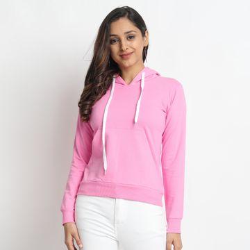 Juneberry | Juneberry Women Hooded Pink Sweatshirt