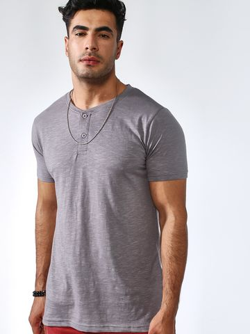 Blue Saint | Blue Saint Men's Grey Skinny Fit T-Shirts