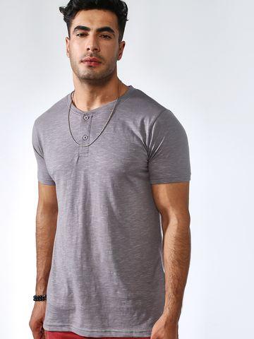 Blue Saint | Blue Saint Men's Grey Skinny Fit T-Shirts