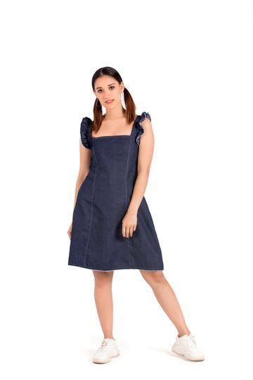 EUDORA CUT | Denim Short Dress