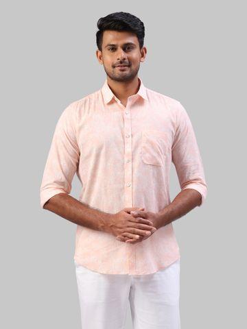 Khadi the story re-spun | Khadi the story re-spun Pink Formal Shirt