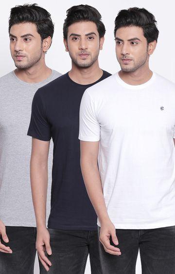 Killer | Multicoloured Basic Solid T-Shirt - Pack of 3