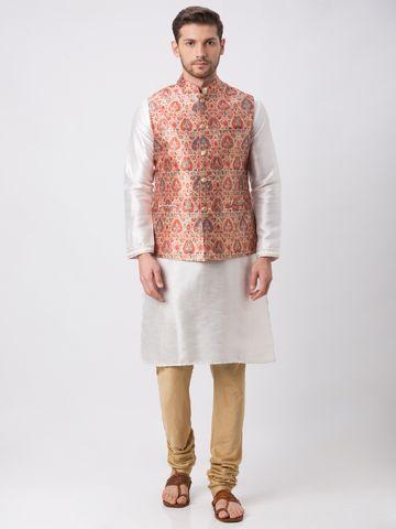 Ethnicity | Ethnicity Polyester Blend Straight Sleeveless Men Rust Jackets