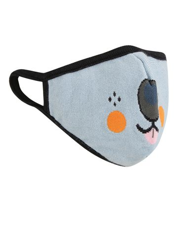 Soxytoes | Soxytoes Blue Dogs Stylish Protective Super Safe Washable Knitted Cotton Kid's Face Mask