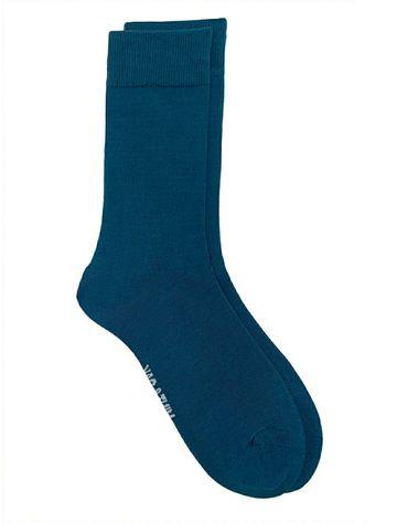 Mint & Oak   Mint & Oak Beat The Blues Blue Calf Length Socks for Men