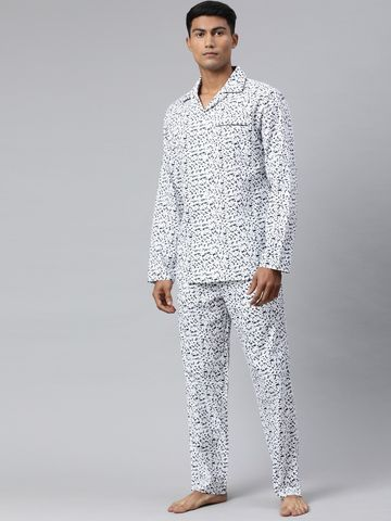 The Bear House | Men's Printed Night-Suit
