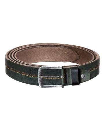 WildHorn | WildHorn Classic Leather Green Belt for Men