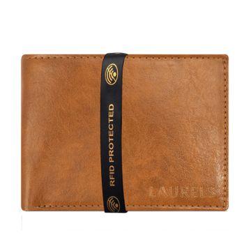 Laurels   Laurels Aspire Tan Vegan Leather Men Wallet With RFID Protection.
