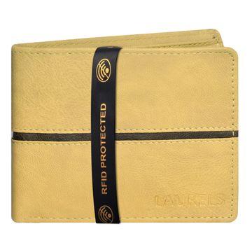 Laurels | Laurels Brye III Brown Vegan Leather Men Wallet With RFID Protection.