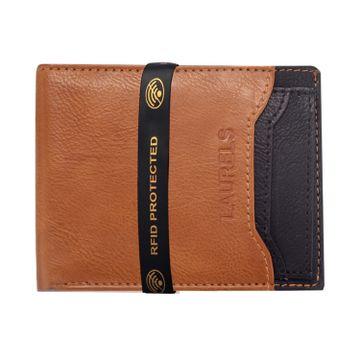 Laurels | Laurels Martian Beige Vegan Leather Men Wallet With RFID Protection.
