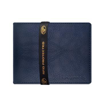 Laurels | Laurels Urban Blue Vegan Leather Men Wallet With RFID Protection.