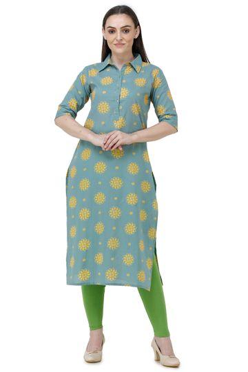 Lavanya | Green Lavanya Printed Straight Kurta