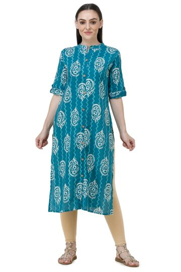 Lavanya | Blue Lavanya Printed Straight Kurta