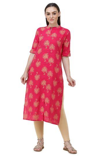 Lavanya | Pink Lavanya Printed Straight Kurta